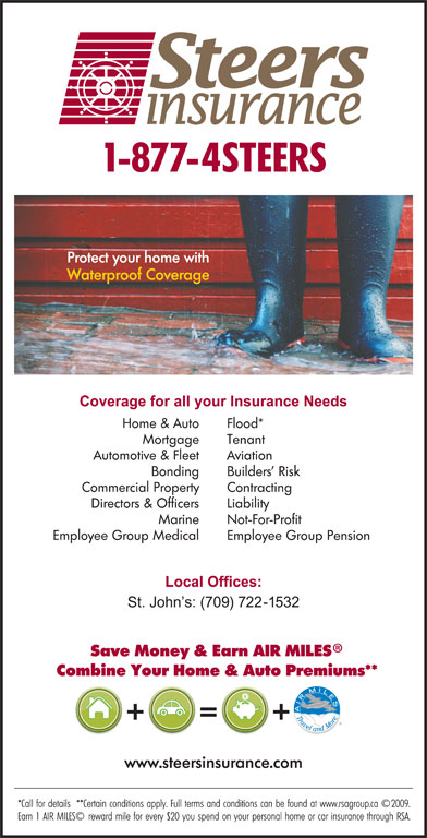 Steers Insurance Limited (709-722-1532) - Display Ad -