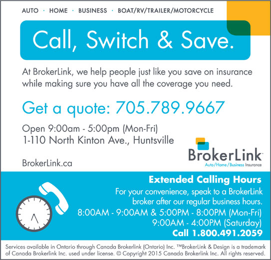 BrokerLink (705-789-9667) - Display Ad -