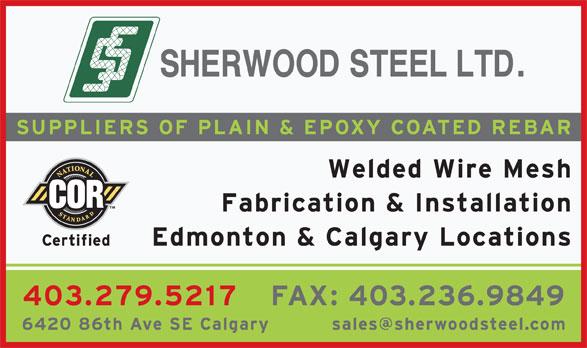 Sherwood Steel Ltd (403-279-5217) - Display Ad -