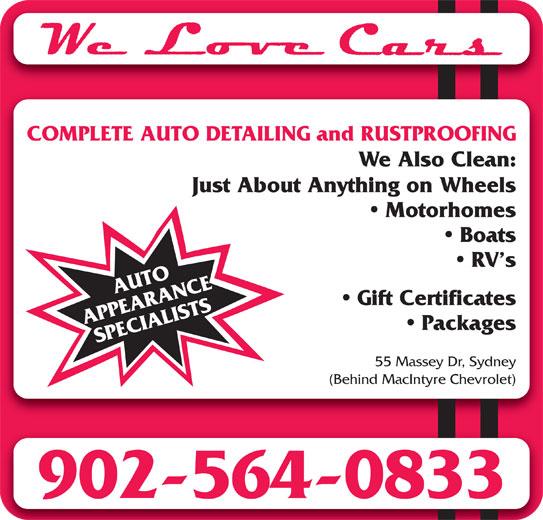 We Love Cars (902-564-0833) - Annonce illustrée======= -
