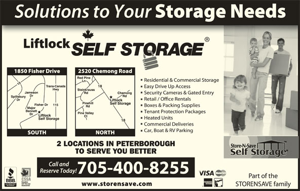 Liftlock Self Storage (705-750-4555) - Display Ad -
