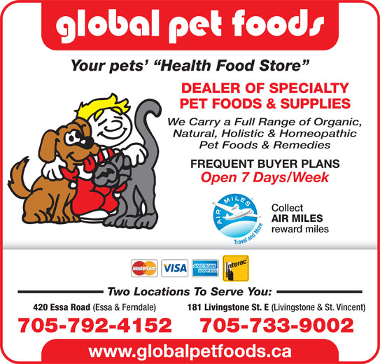 Global Pet Foods (705-792-4152) - Display Ad -