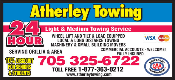 Ads Atherley Towing Service