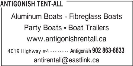 Antigonish Tent-All (902-863-6633) - Annonce illustrée======= -