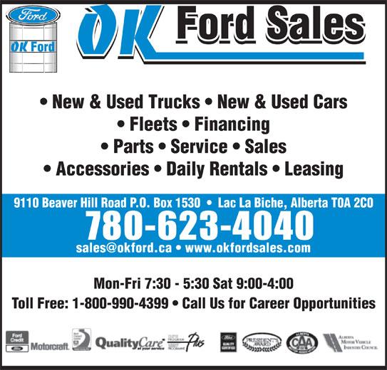 Ads OK Ford Sales