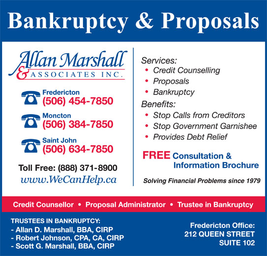 Allan Marshall & Associates Inc (506-454-7850) - Display Ad -