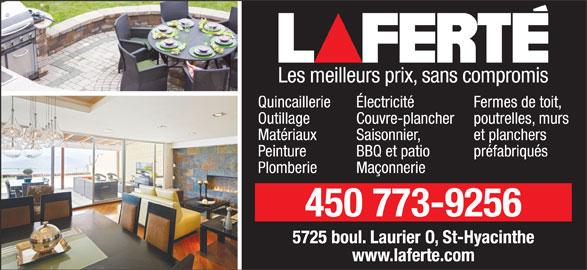 Laferté (450-773-9256) - Annonce illustrée======= -