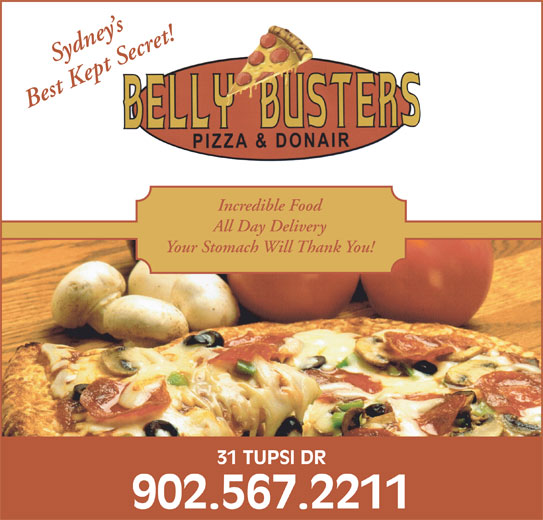 Belly Busters Pizza & Donair (902-567-2211) - Annonce illustrée======= -