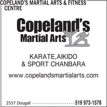 Ads Copeland's Martial Arts & Fitness Centre