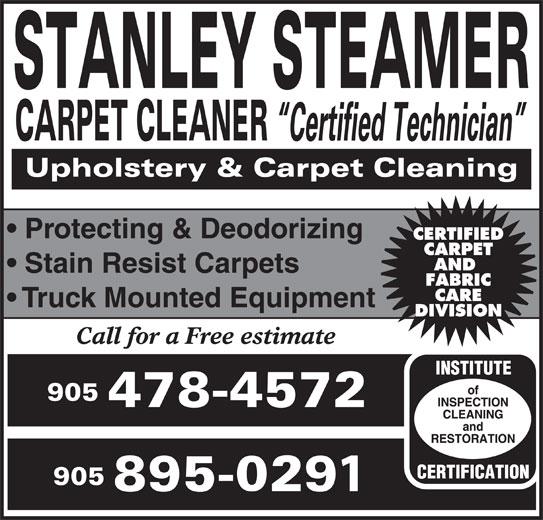 Stanley Steamer Carpet Cleaner - 6 Morton Ave, Queensville, ON