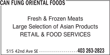 Can Fung Oriental Foods (403-263-2823) - Annonce illustrée======= -