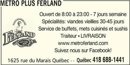 Metro Plus (418-688-1441) - Annonce illustrée======= -