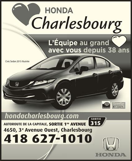 Honda Charlesbourg (418-627-1010) - Annonce illustrée======= - L Équipe au grand    Équipe au gand avec vous depuis 38 ansc eous depuis 38 ans Recommandé
