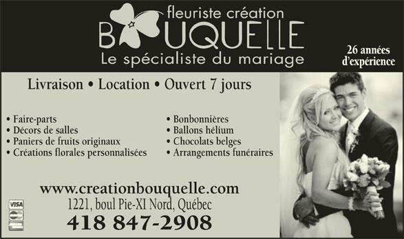 Création Bouquelle (418-847-2908) - Annonce illustrée======= -