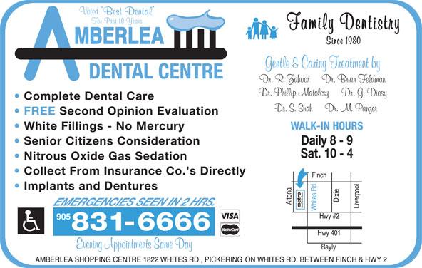 Amberlea Dental Centre (905-831-6666) - Display Ad - 905