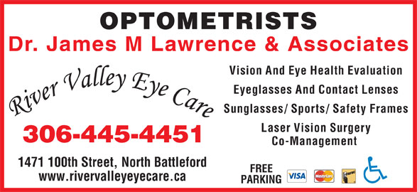 River Valley Eye Care (306-445-4451) - Display Ad -