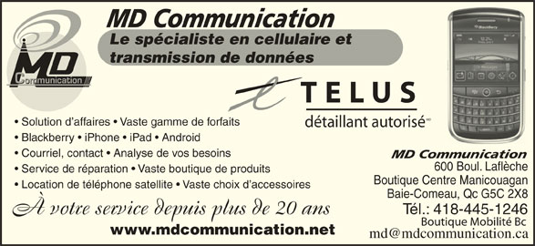 Md communication baie comeau qc 600 boulevard for Abco salon services