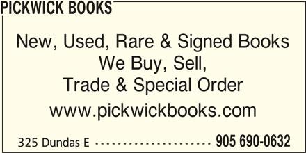 Pickwick Books (905-690-0632) - Annonce illustrée======= -