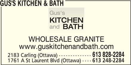 Ads Gus's Kitchen & Bath