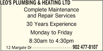 Ads Leo's Plumbing & Heating Ltd