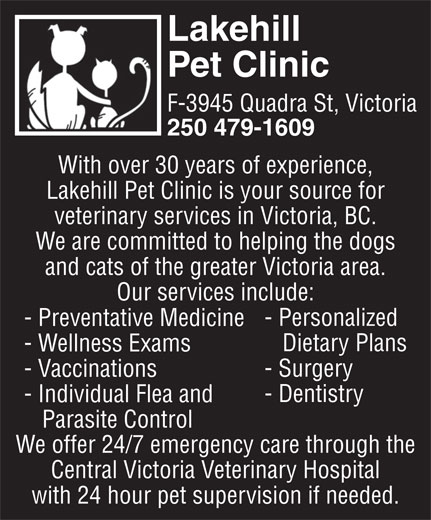 lakehill pet clinic ltd   opening hours   f 3945 quadra st