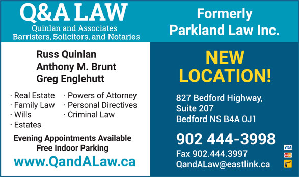 Parkland Law (902-444-3998) - Display Ad -
