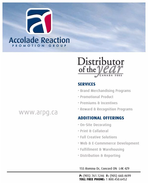 Accolade Reaction (416-742-9315) - Promo