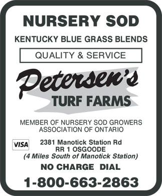 Petersen's Turf Farms (1-800-663-2863) - Display Ad