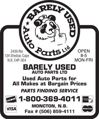 Barely Used Autopart (506-802-7292) - Display Ad