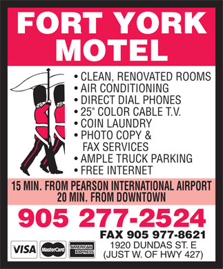 Fort York Motel (905-277-2524) - Display Ad