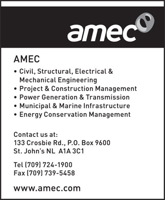 AMEC (709-724-1900) - Display Ad