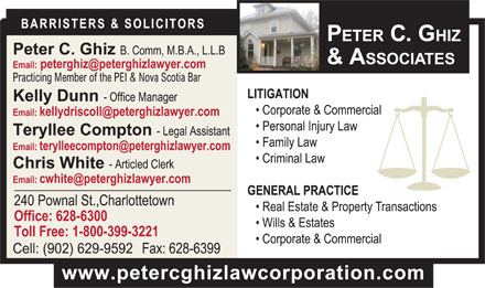 Ghiz Peter C (902-628-6300) - Display Ad