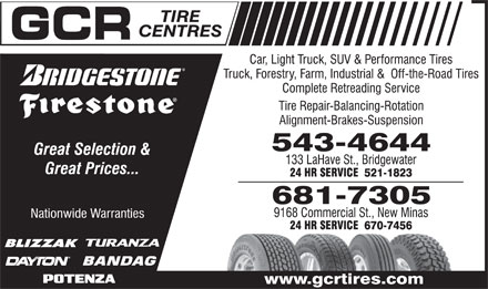 GCR Tire Centres (902-543-4644) - Display Ad