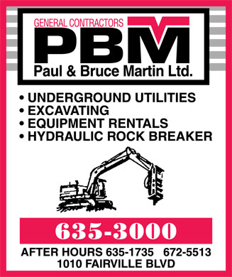 Martin Paul & Bruce Ltd (506-635-3000) - Display Ad