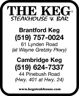 The Keg Steakhouse & Bar (519-757-0024) - Annonce illustrée