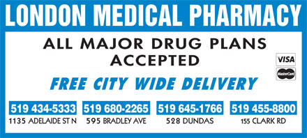 London Medical Pharmacy (519-434-5333) - Display Ad