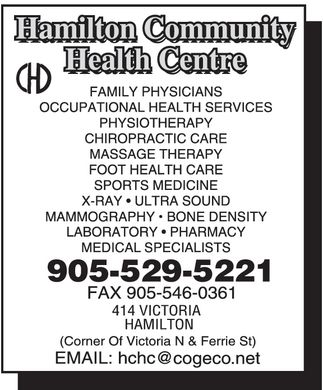 Hamilton Community Health Centre (905-529-5221) - Display Ad