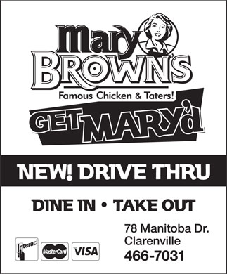 Mary Brown's Famous Chicken & Taters (709-466-7031) - Annonce illustrée