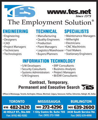 The Employment Solution (416-482-2420) - Display Ad
