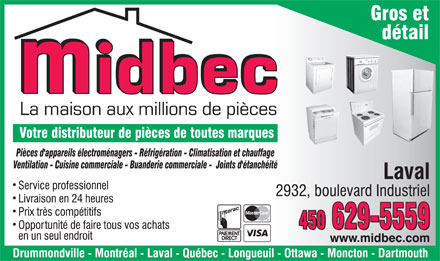 Midbec Ltée (450-629-5559) - Display Ad