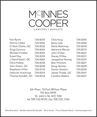 McInnes Cooper (709-722-8735) - Annonce illustr&eacute;e