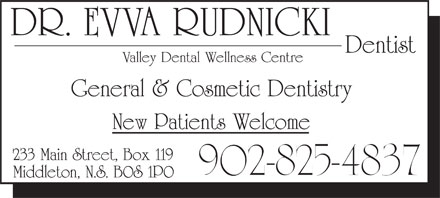 Valley Dental Wellness Centre (902-825-4837) - Annonce illustrée