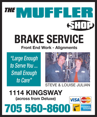 The Muffler Shop (705-560-8600) - Display Ad