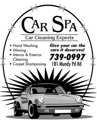 Car Spa (709-739-0997) - Annonce illustrée - CAR SPA Car Cleaning Experts Hand Washing Waxing Interior & Exterior Cleaning Carpet Shampooing Give your car the best care it deserves! 739-0997 181 Mundy Pd Rd