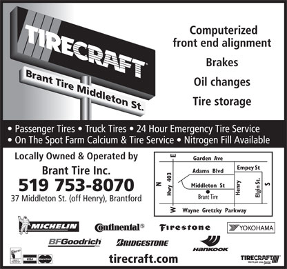 Tirecraft (519-753-8070) - Display Ad
