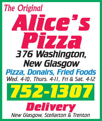 Alice's Pizzas (902-752-1307) - Display Ad - The Original  The Original  The Original  The Original