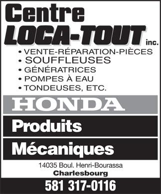 Centre loca tout inc 14035 boul henri bourassa qu bec qc for Loca meuble henri bourassa