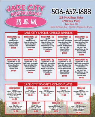 Jade City (506-652-1688) - Menu