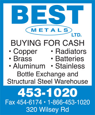 Best Metals Ltd (506-453-1020) - Annonce illustrée