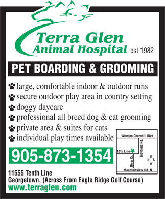 Terra Glen Animal Hospital (905-873-1354) - Annonce illustrée